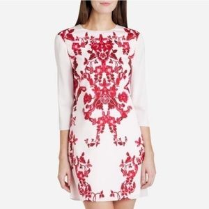 Ted Baker pale pink red China print shift dress